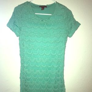 Lace Aquamarine Dress Forever 21 - Worn once!